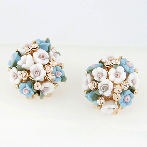 Stud Earrings for Women Brincos Grande Pendientes Mujer 2015 boucle d'oreille Jewelry Women Fashion Flower Earrings Bijoux 2014(China (Mainland))