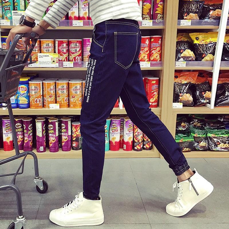 Скидки на КОТЕНКО, Бренд Мужской Моды Джинсы Прямые Карандаш Полный Длинные Брюки джинсы Tight Повседневная Тощий Хип-Хоп Мужчин Slim Fit Брюки мыть