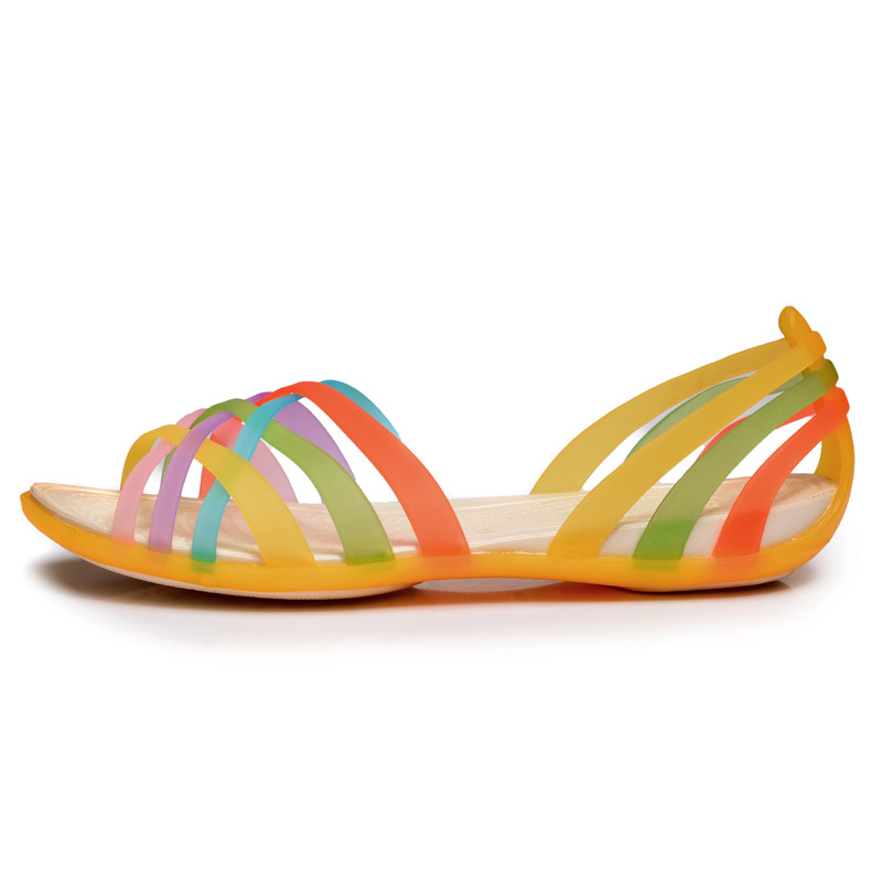 summer 2015 jelly sandals jelly shoes women sandals flat ...