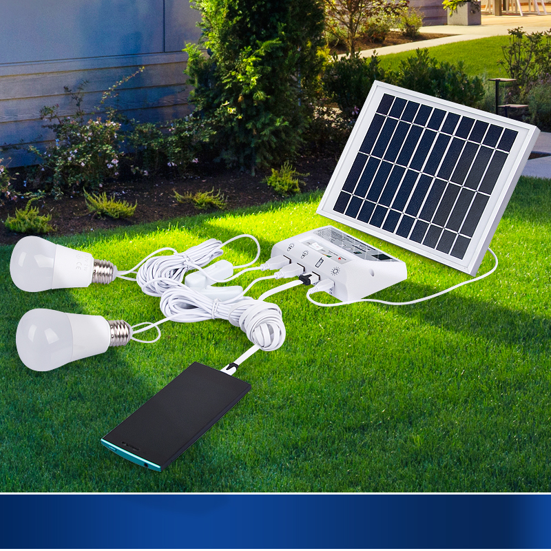 Indoor And Outdoor Solar Lights Home Power System D Camping Tent Rechargeable Super Bright In