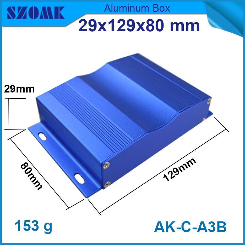 1 piece free shipping aluminium electrical housing for diy pcb broad in blue color  29x129x80mm<br><br>Aliexpress