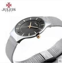 Top Brand Julius Men's Watches Stainless Steel Band Analog Display Quartz Men Wrist watch Ultra Thin Dial business Men montre
