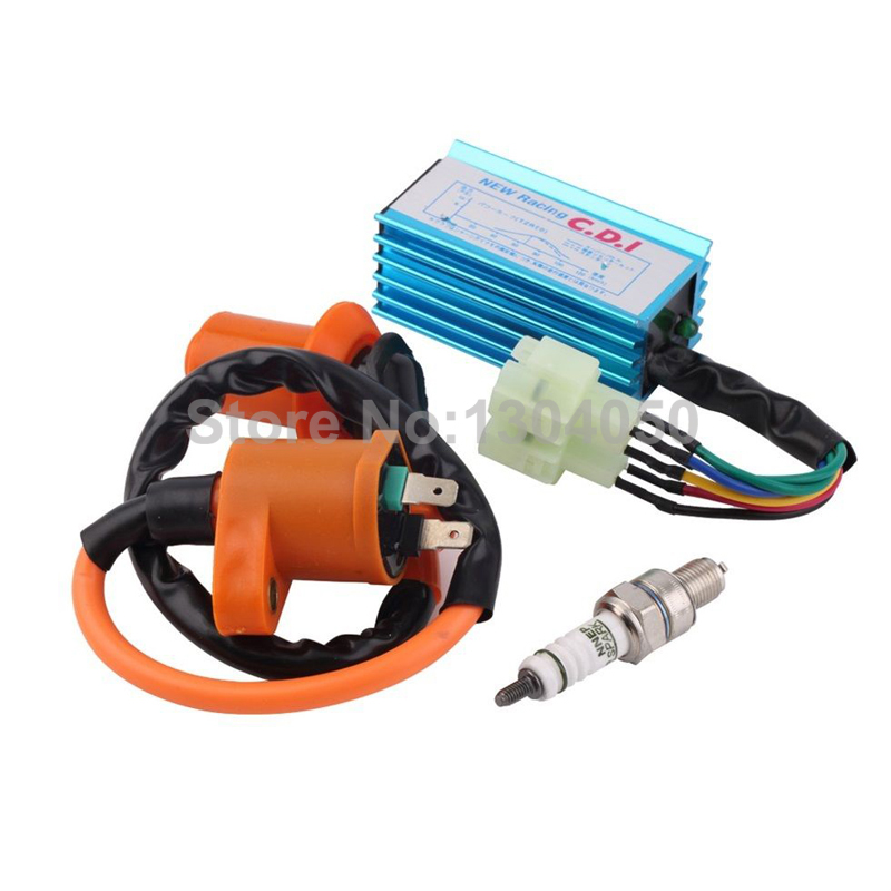 Scooter High Performance Racing Ignition Coil+Spark Plug+CDI Fits GY6 50cc 125cc 150cc(China (Mainland))