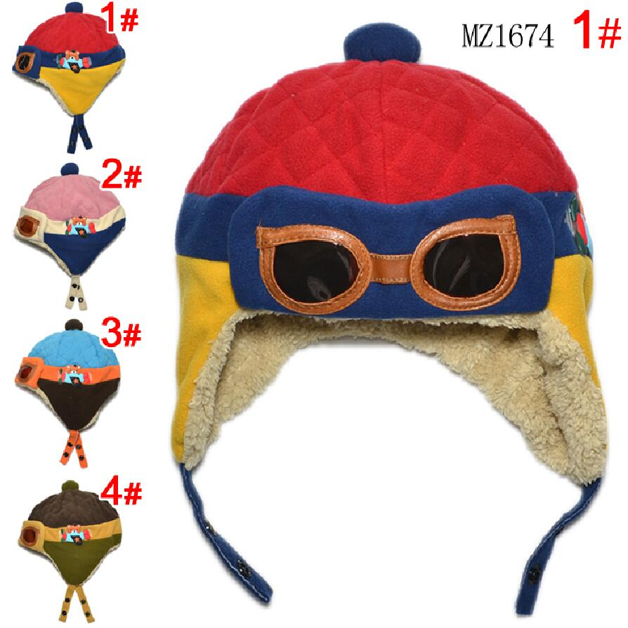 Hot Sale Toddlers Warm pilot hat Cool Baby Boy Girl Beanie Infant Winter Pilot Cap Free Shipping(China (Mainland))