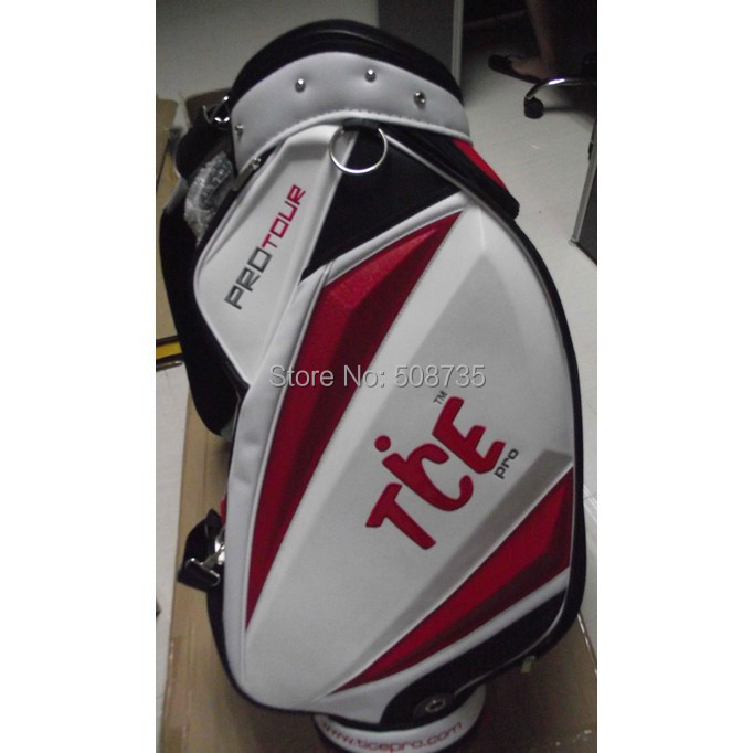 Tice New Professional golf Bag Golf Caddie White WIth Red Bag With High Quality(China (Mainland))