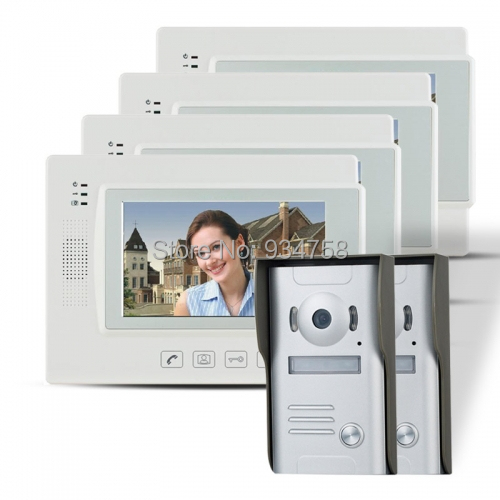 7 TFT Wired Doorbell Intercom Video Door Phone House Security IR Camera 2V4<br><br>Aliexpress