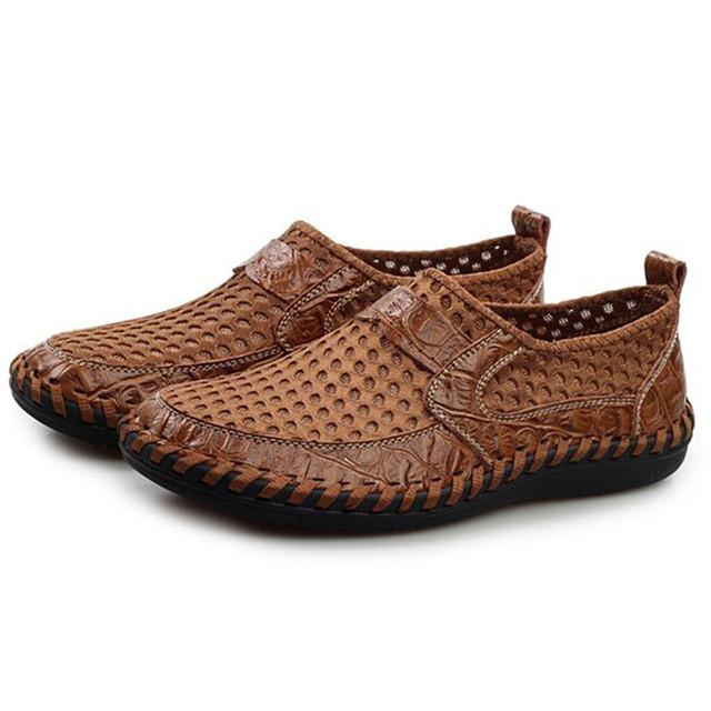 Мужчины обувь из натуральной кожи дышащий соответствующие мужчины квартиры свободного ...