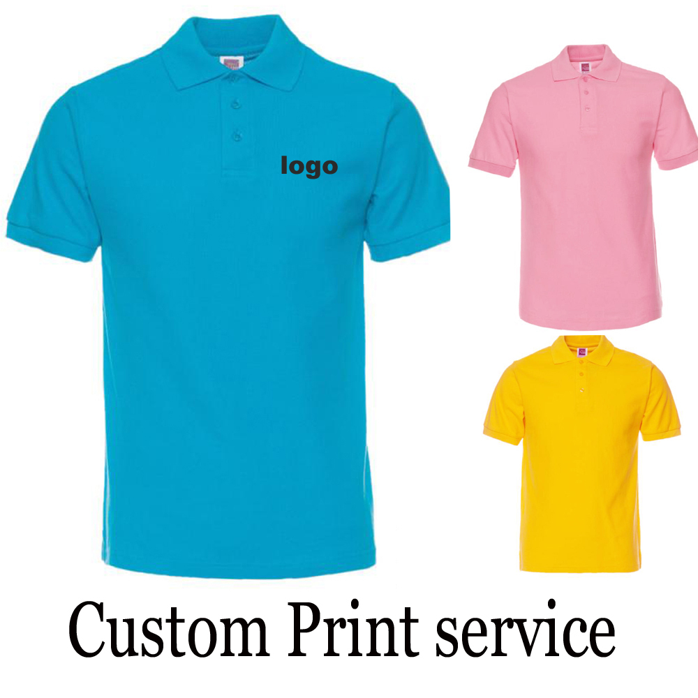 customized print logo for /Uniform Company/Hotel/ Customized Printing Camisas 100% Cotton Shirt Silk Screen print Printing HY(China (Mainland))