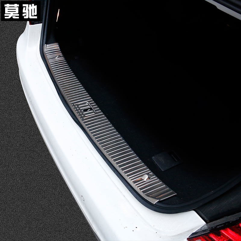 1pc stainless steel Trunk guard plate Built rearguard decoration for benz E200 E220 E260 E300(China (Mainland))