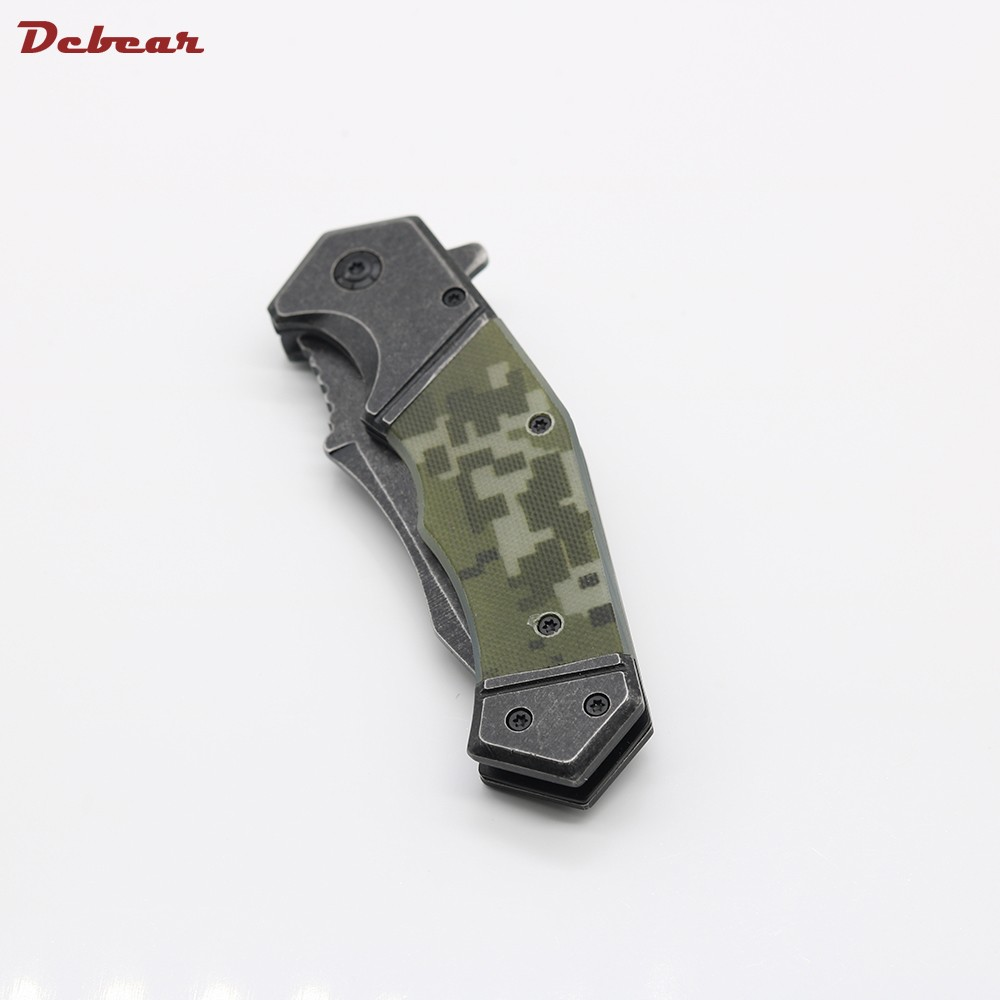 Buy Dcbear Tactical Knife Folder 8CR13MOV Steel Outdoor Camping Knife G10 Handle Portable Survival Folding Hunting Knives Card Knife cheap