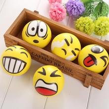 Smiley Ball Smiley Stress Ball Smiley Squeeze Ball Anti Stress Reliever Autism Squeeze Toys Random Hand Exercise(China (Mainland))