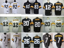High quality,Pittsburgh Steelers,#11 Markus Wheaton #12 Terry Bradshaw #50 Ryan Shazier Elite(China (Mainland))