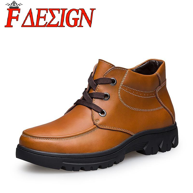 Super warm genuine leather men Martin boots, plus size 37-50 winter boots men ankle rivets snow boots hight quality 100%(China (Mainland))