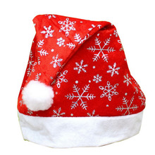Buy 2016 Snowflake Christmas Hat Felt Santa Hat Xmas Caps Christmas Decoration for $2.10 in AliExpress store