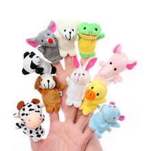 10pcs Baby Plush Toys Different Cartoon Animal Velvet Finger Puppets For Children Play Soft Kids Dolls Educational Hand Puppets(China (Mainland))