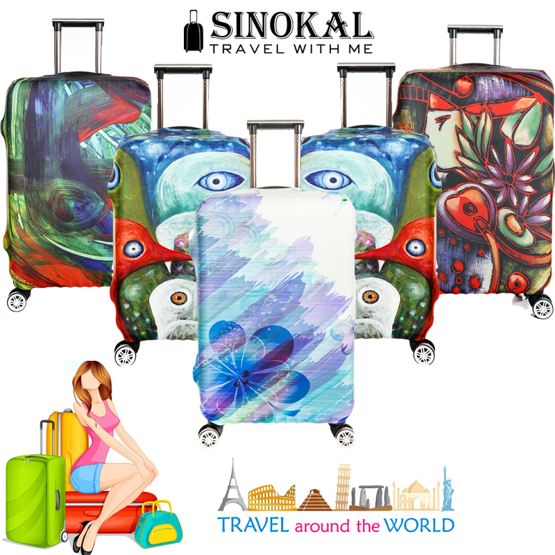 Travel Suitcase Covers Luggage Protector Cover Spandex Elastic Protectors for 18-32 inch Trolley Case(China (Mainland))