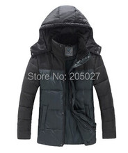 2015 High Quality Plus Size 3XL Brand New Long Winter Jackets Men Detachable Hoody Cotton Winter