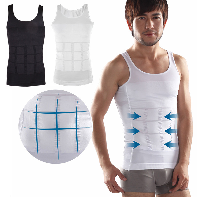 Men's sexy Slimming Body Shaper Belly Fatty thermal Underwear men sport Vest Shirt Corset Compression #MA0049(China (Mainland))