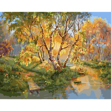 The frameless Pictures Paint By Numbers Digital Oil Painting On Canvas Home Decoration 40x50cm Time rolls on Da227(China (Mainland))