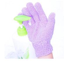 Душ отшелушивающие промыть кожу спа перчатки массаж волоконно-люфой поломоечные 1 пара(China (Mainland))