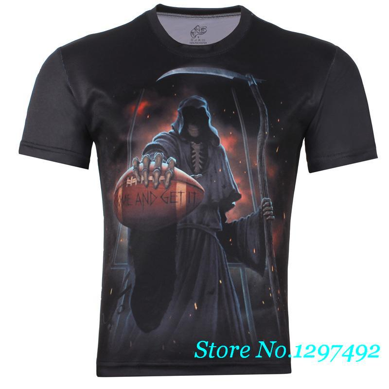 Korean fashion original men's Death personalized 3d printing Casual Male taxi fat round neck short sleeve T-shirt(China (Mainland))