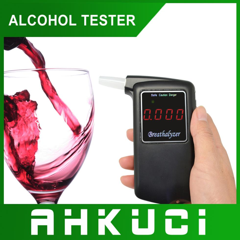 2014 Newest high accuracy Professional Police Digital Breath Alcohol Tester Breathalyzer AT858 Freeshipping Dropshipping(China (Mainland))