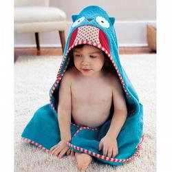 1 piece baby kids hooded bath towel / cartoon baby bathrobe / bath essential