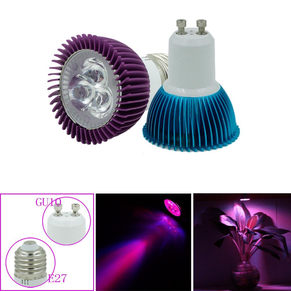 New Hydroponics Lighting AC85-265V E27/E14/GU10 3*2W 2Red/1Bule Multiple Colors Leds Plant Grow Lights Led Spot Light(China (Mainland))