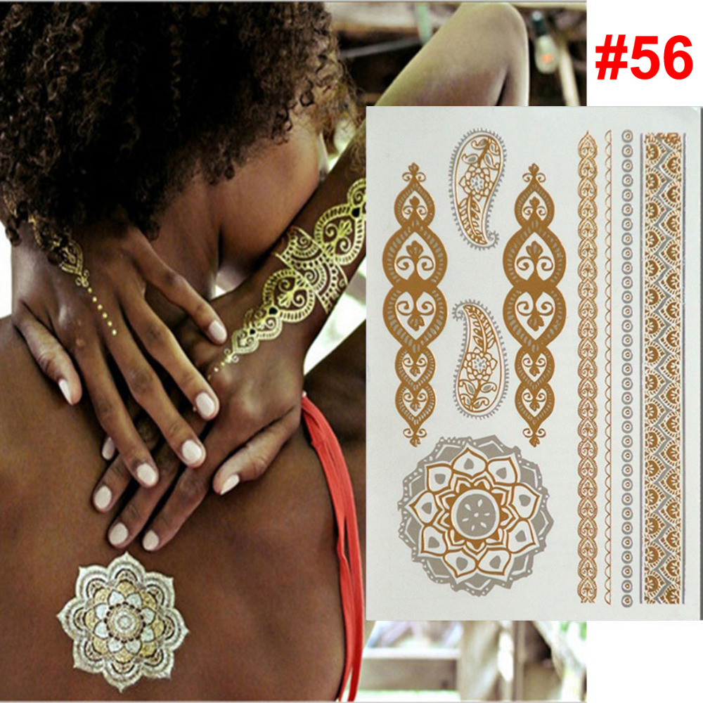 wholesale temporary tattoo gold tattoo Flash tattoos women arm butterfly indian body art sticker sex products