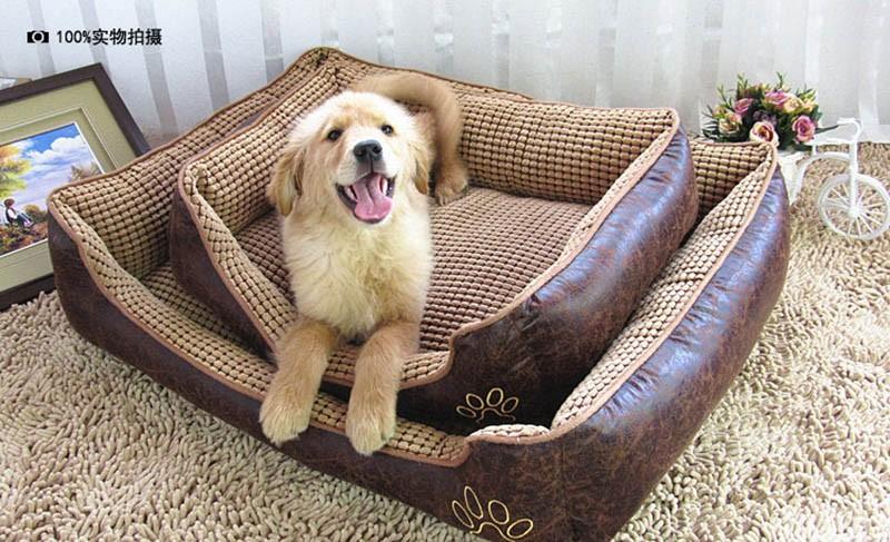Large Dog Bed Mat Cushion Washable Warm Soft Fleece Pet House Kennel Cushion Luxury Sofa Bed Pet Products PT0027 (13)