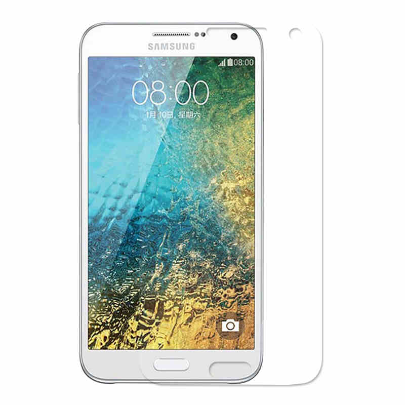 50Pcs 9H Tempered Glass Screen Protector Film for Samsung Galaxy E7 E7000 E7009 + Alcohol Cloth + Dust Absorber(China (Mainland))
