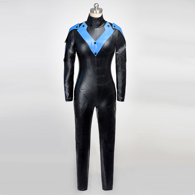"Nightwing Richard John ""Dick"" Grayson Superhero Cosplay Costume Women Version Sexy Jumpsuits For Halloween Role-playing Party(China (Mainland))"