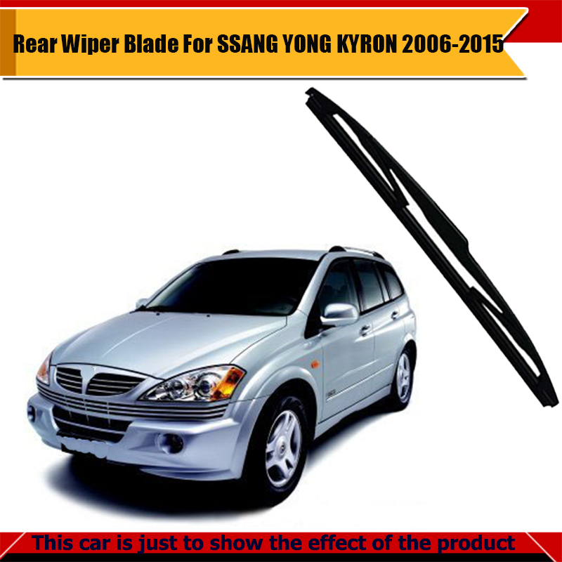 Black Car Soft Rubber Windshield Rear Windscreen Wiper Blade For SSANG YONG KYRON 2006-2015(China (Mainland))