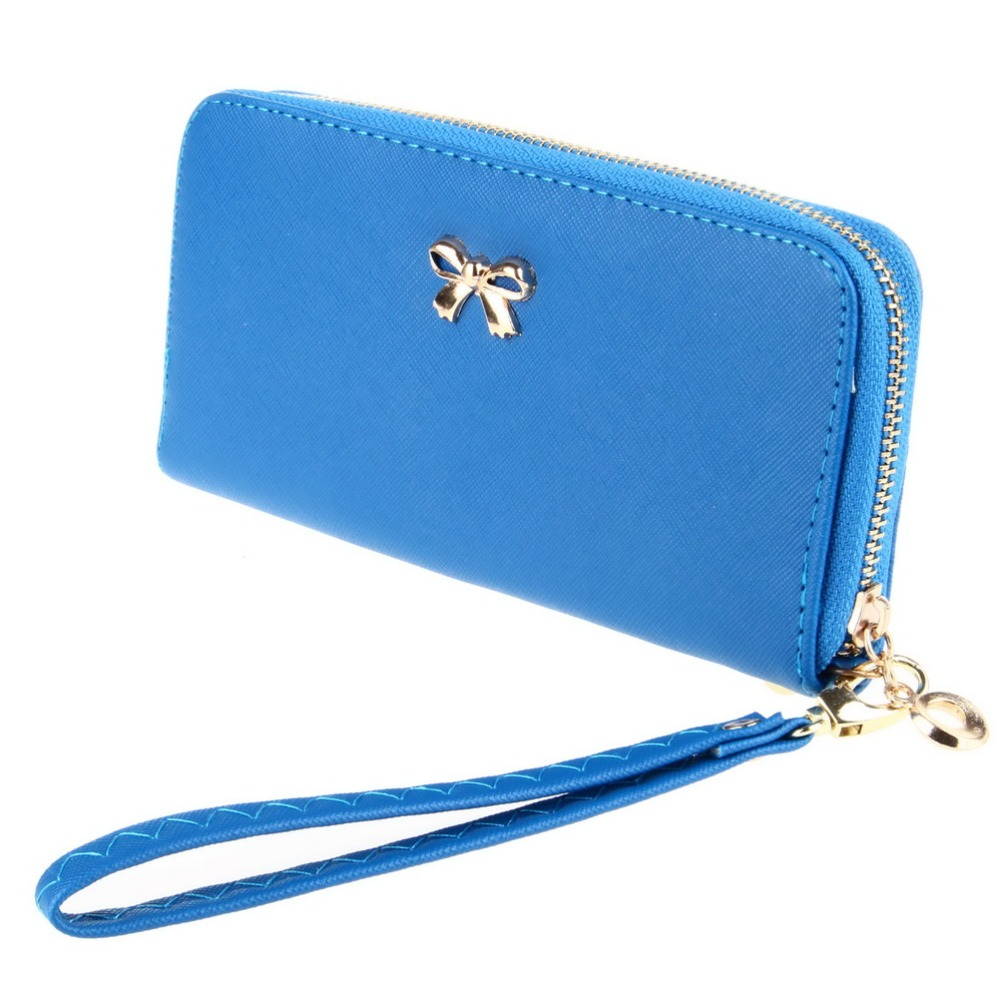 Hot Sale Candy Color Long Wallet Purses For Women Leather Wallet Bags Bowes  LadyCoin Purse Wallets<br><br>Aliexpress