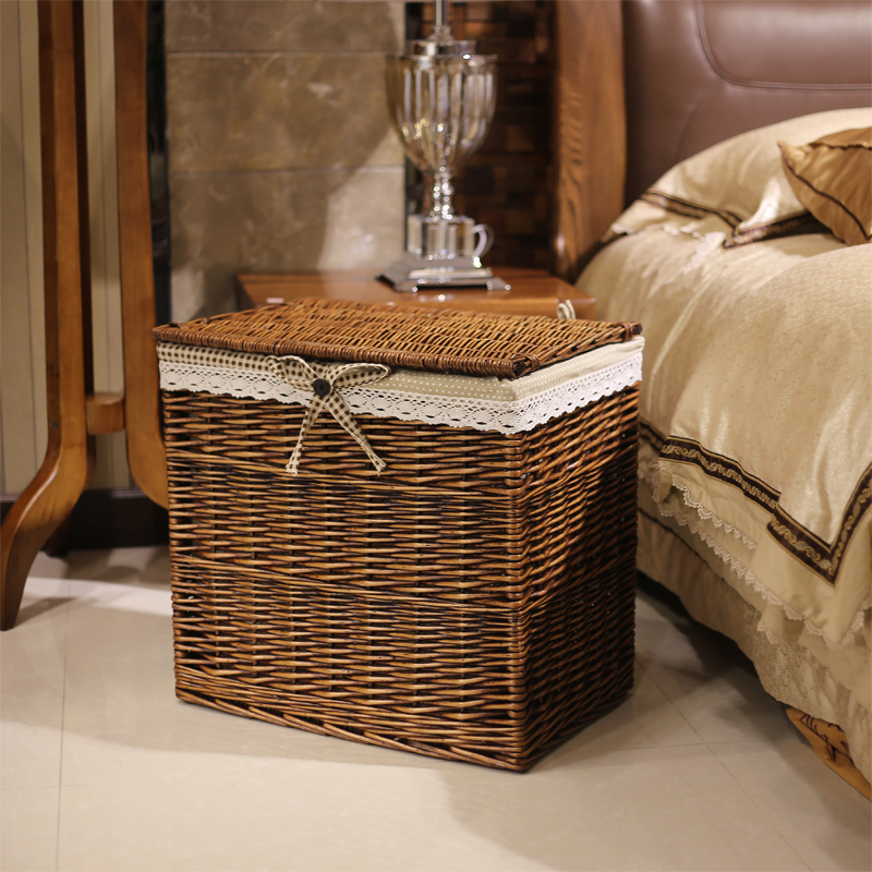 Ran home should rattan wicker laundry basket with a lid clothes clothing storage baskets drawer - Rattan laundry basket with lid ...
