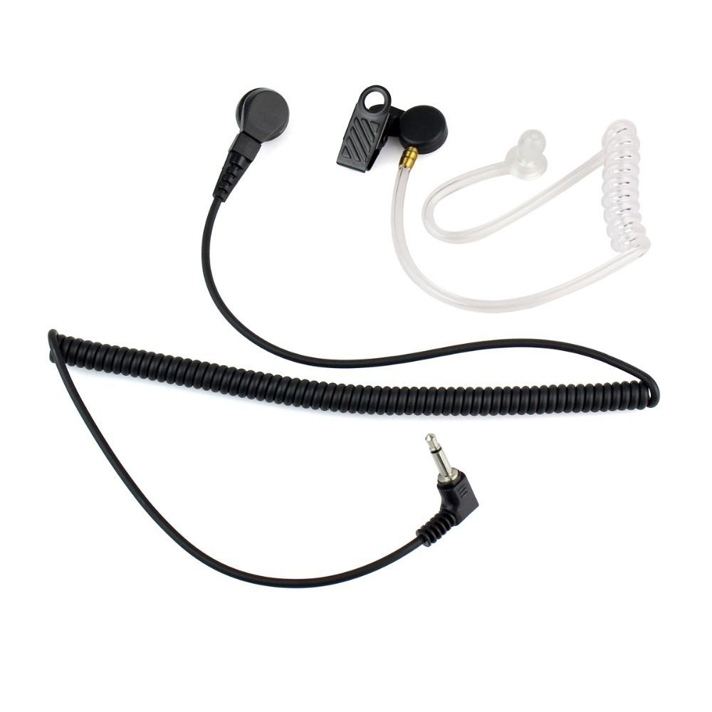 3.5mm Radio Earpiece Earphone for Motorola Ham Radio Walkie Talkie Listen Only Mono Jack Transparent Acoustic Tube C2140A(China (Mainland))