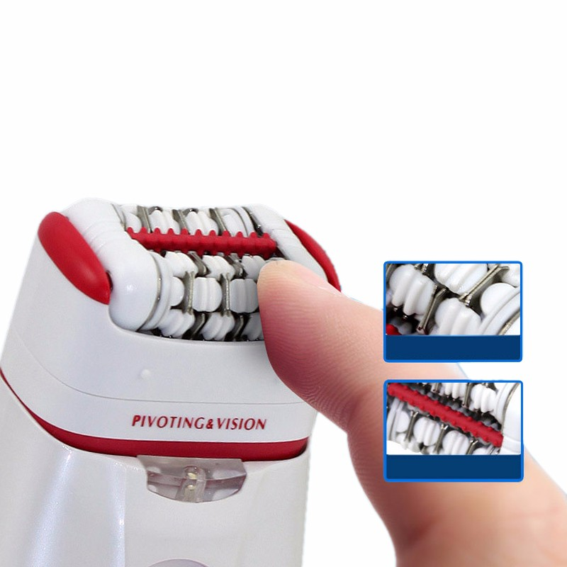Buy New 2 in 1 Women Shave Wool Device Knife Electric Rechargeable Lady Shaver Epilator Shaving KM-2668 Waterproof Dual Head Hair cheap