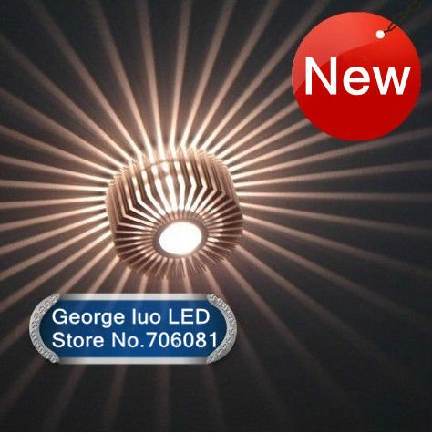 LED Ceiling Wall Lamps High Power 3W White Color downlight Spot light lighting Wall lighting AC85V-265V Free Shipping(China (Mainland))