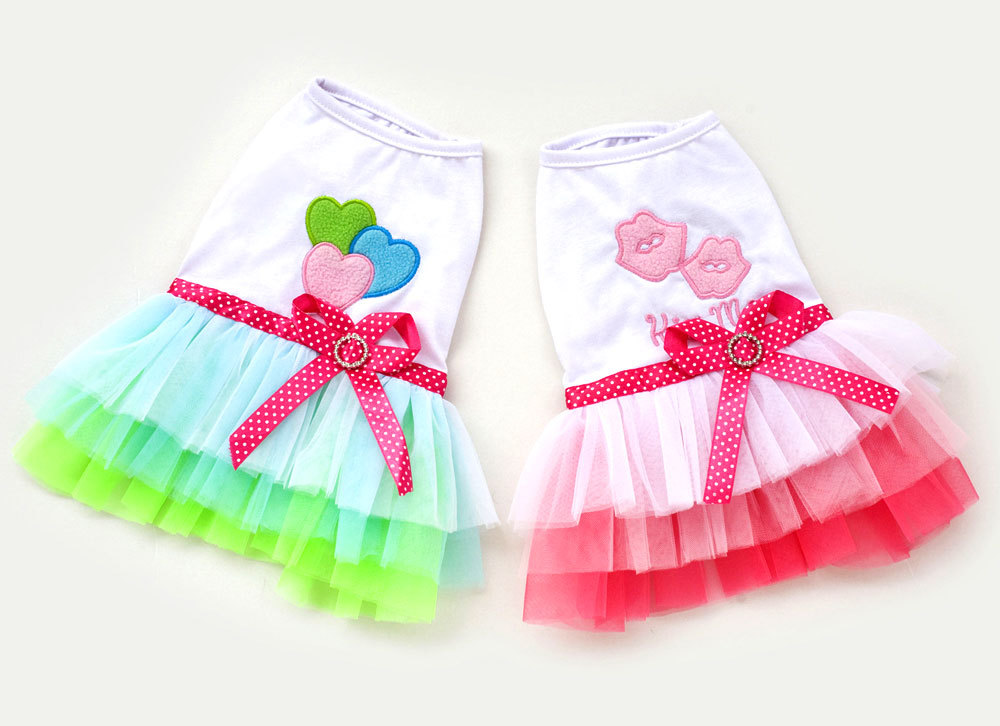 Lips Princess TUTU Dress Skirt Cat Puppy Small Girl dog Clothes XS~XL(China (Mainland))