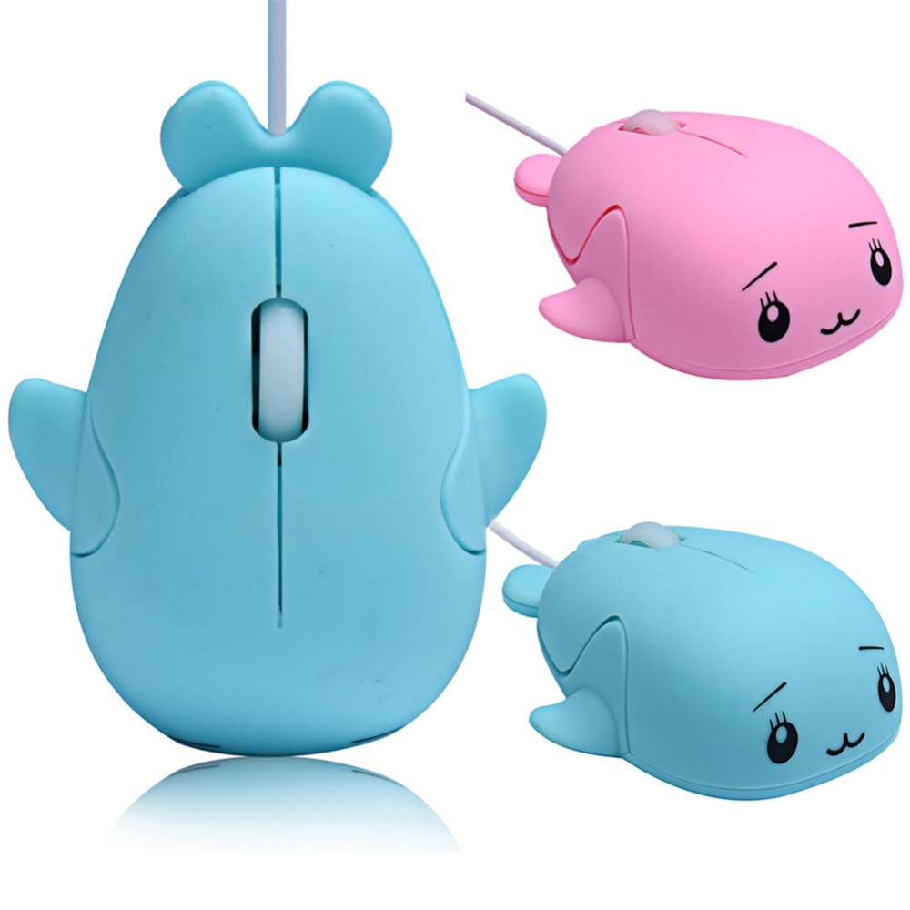 Cute 3D Dolphin Mouse USB Wired Optical Gaming Mice Novelty Whale Fish Animal Dolphin Shaped Ergonomic Mouse gift For PC Laptops(China (Mainland))