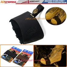 Newest Hot sell Motorcycle Black Pedal Gearshift Leather Shift Sock Boot Shoe Protector With 3D Logo Free Shipping(China (Mainland))