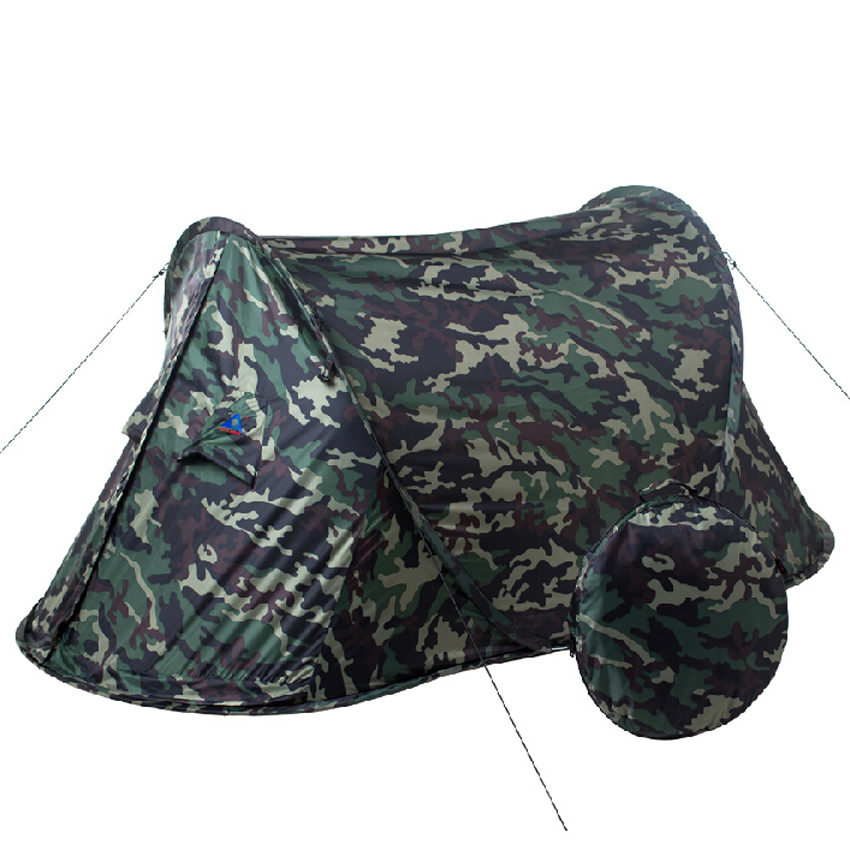 Camouflage high quality automatic single person single layer ultralight camping tent pop up easy to carry(China (Mainland))