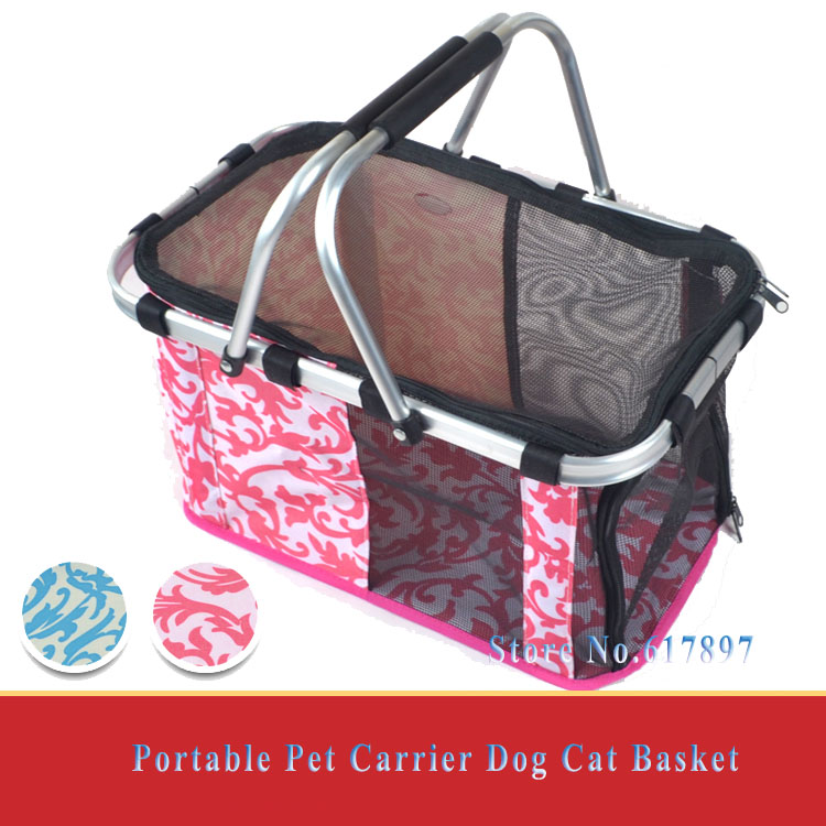 Products for Animals 2015 Four seasons Travel Foldable Pet Carrier Portable Mesh Outdoor Dog Cat Carrying bag Basket Tote(China (Mainland))