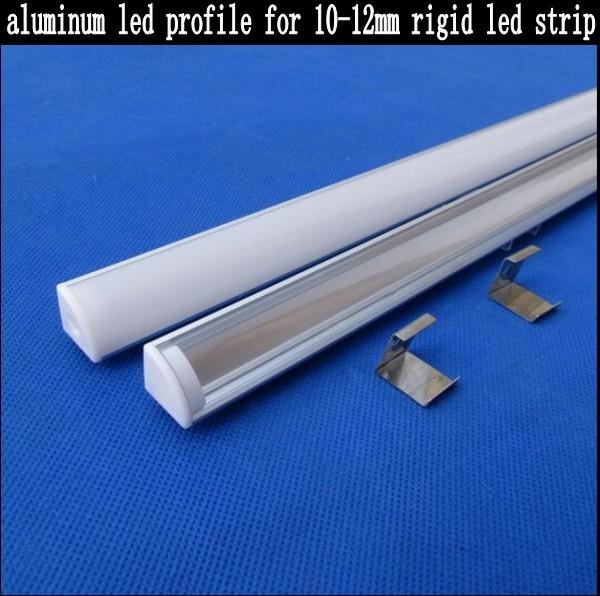 100cm aluminum led profile for rigid bar led strips 5630 5730 8520 10-12mm PCB milky/ transparent PC cover(CC-1616L) , 20pcs/lot(China (Mainland))