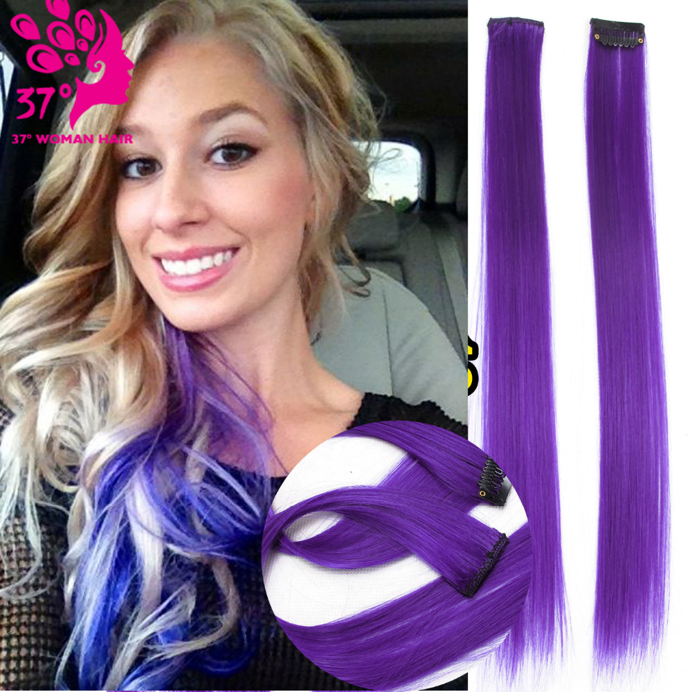 """16""""40cm Clip In for Ombre Hair Extensions Fashion straight Long Synthetic Hair Extension"""