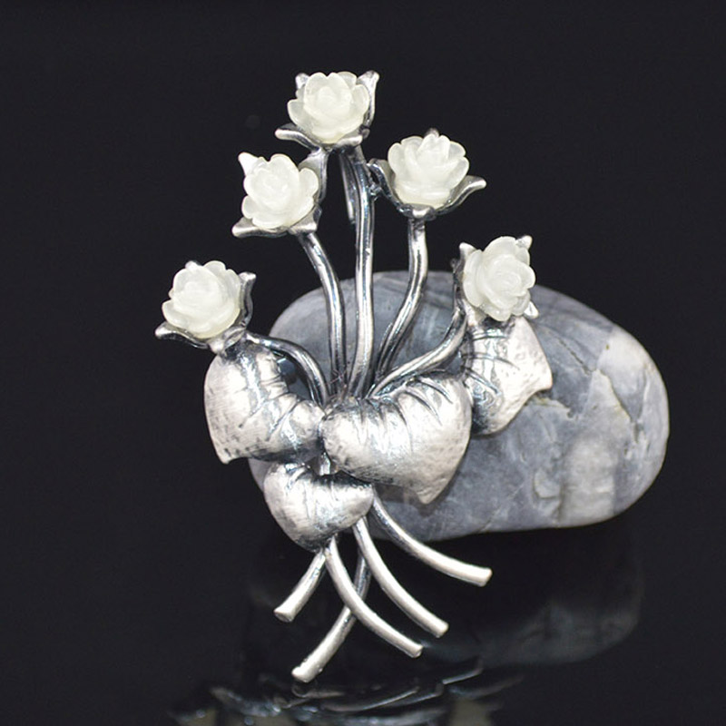 Cheapest High quality butterfly flower brooch Cream White pearl brooch crystal jewelry wedding brooch(China (Mainland))
