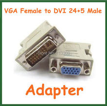 5pcs VGA Female to DVI 24+5 Pin Male Adapter to 15 Pin VGA Female Connector Extender Converter