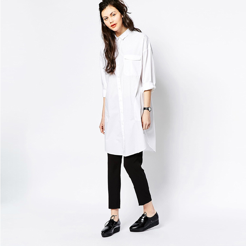 Buy white shirt dress women boyfriend Women s long sleeve shirt dress