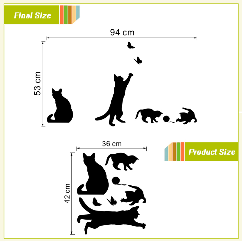 Cat Meow Mural Wall Stickers Livingroom Bedroom Home Decoration Accessories(China (Mainland))