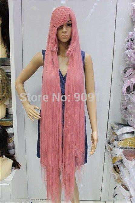 Cos 150cm dark pink long straight COSPLAY WIG (B0320)<br><br>Aliexpress